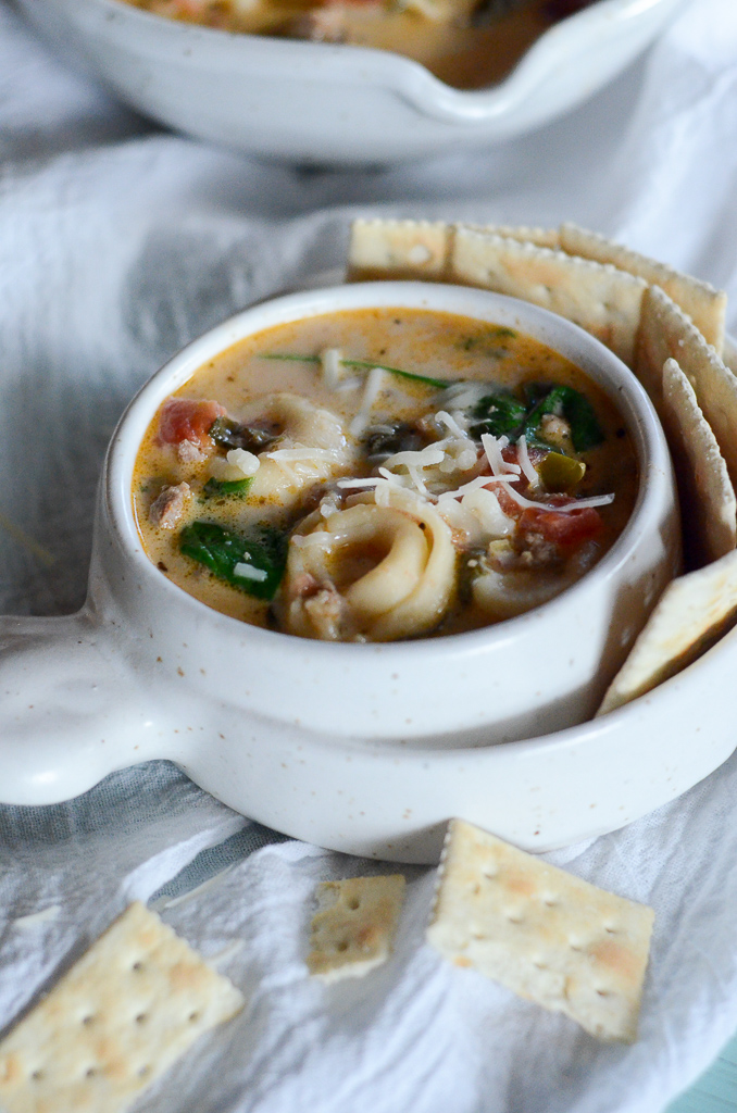 how to make sausage tortellini soup