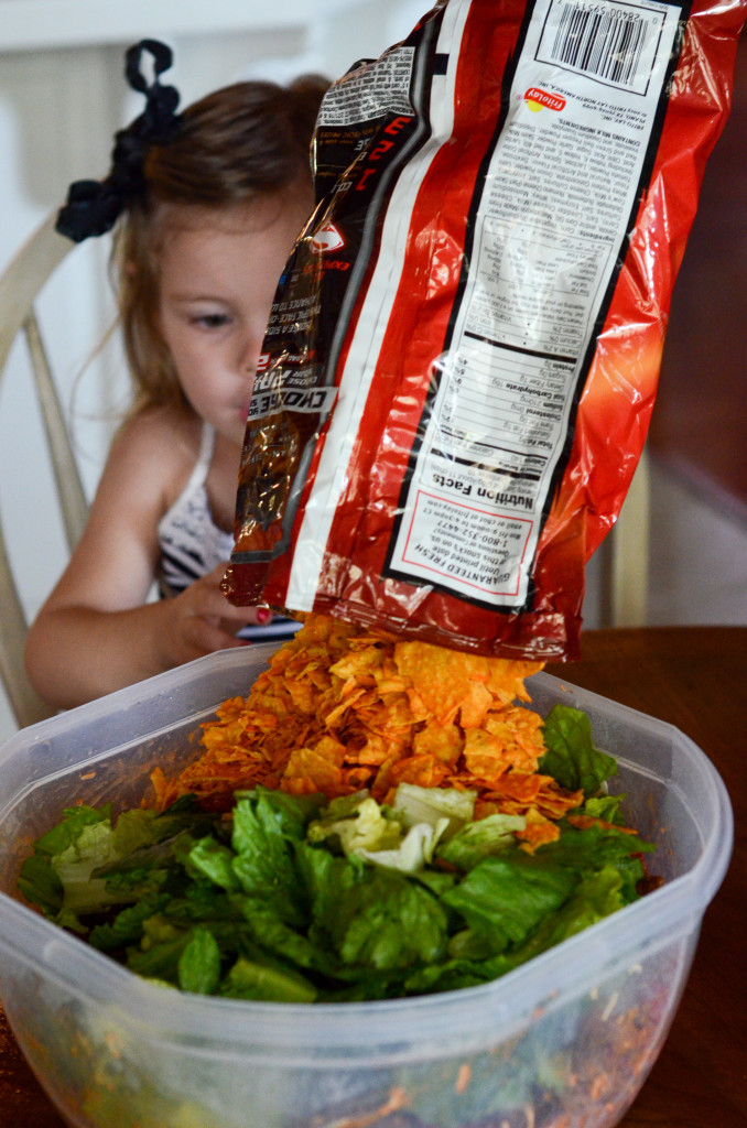 Cold Taco Salad - Cooking with Kids