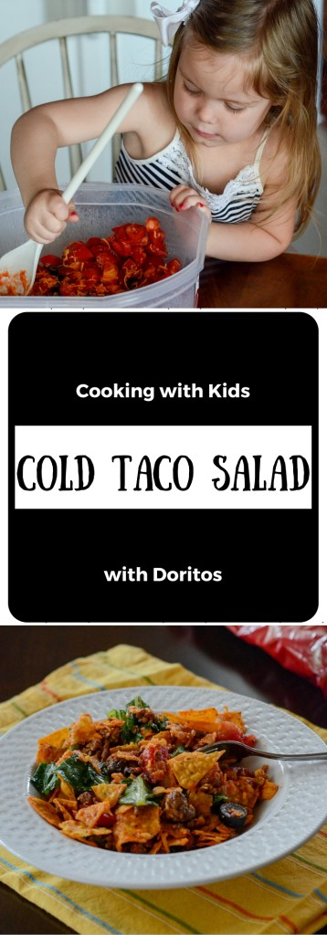Cold Taco Salad - Cooking with Kids - The Gifted Gabber