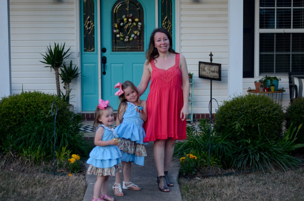 seersucker easter dresses and blogger collab  what we wore