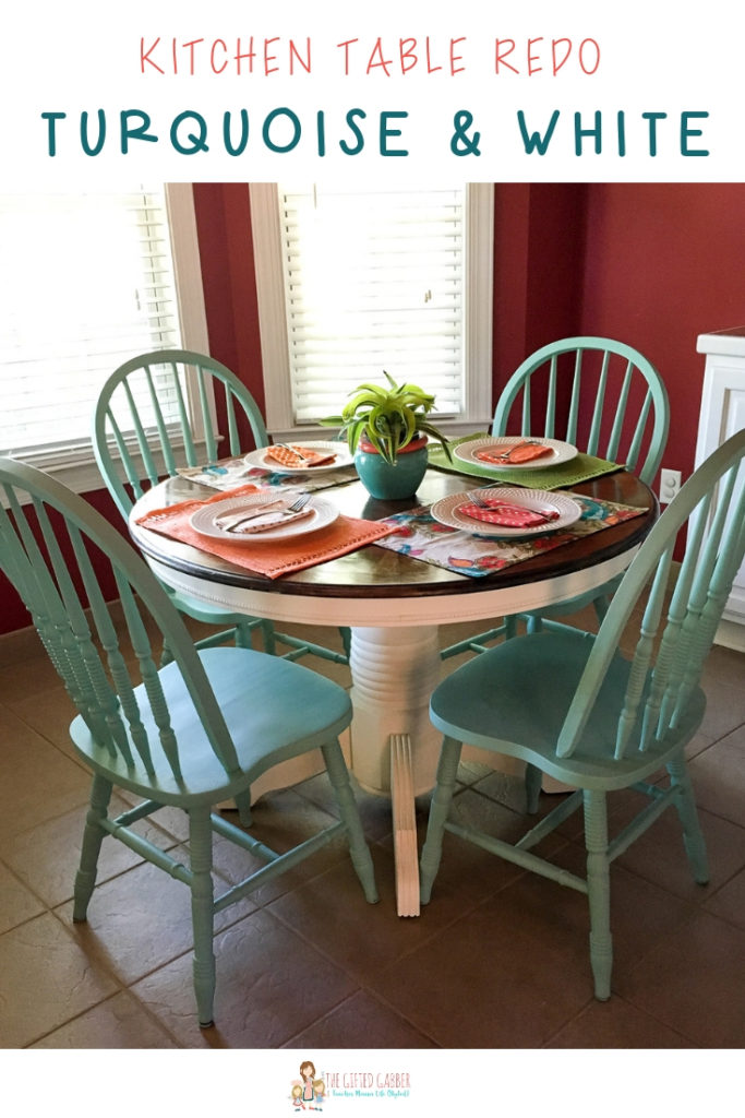 Turquoise and White Kitchen Table - Round Table - The Gifted ...