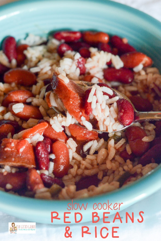 Crock Pot Red Beans And Rice With Canned Beans And Smoked Sausage The Gifted Gabber