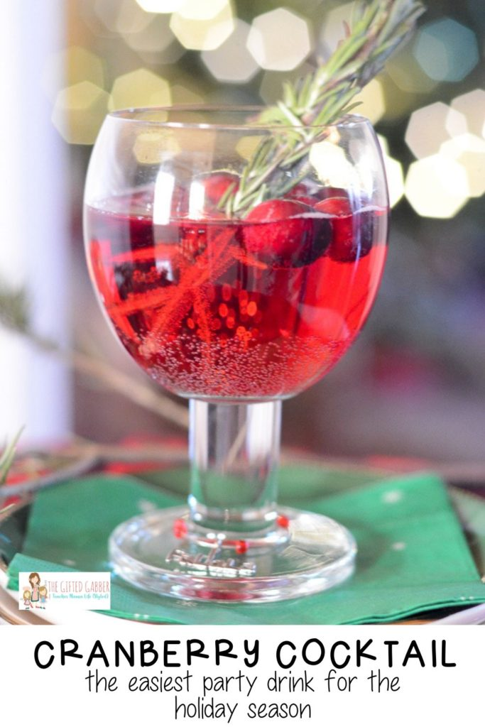 Simple Cranberry Cocktail The Gifted
