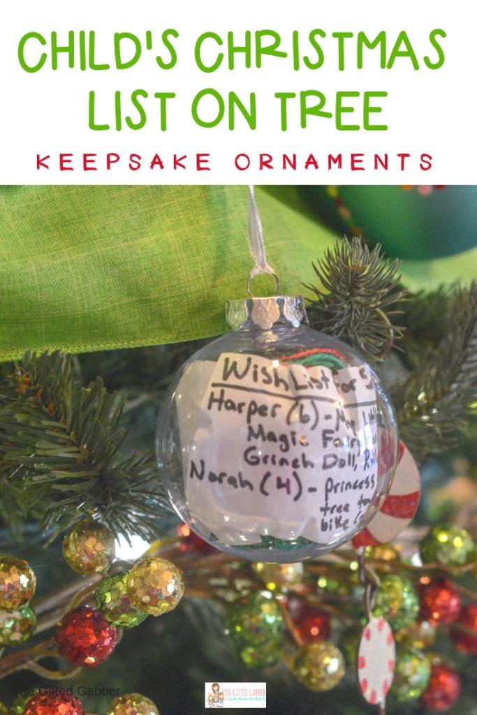 The Christmas List.Make A Santa Wish List Ornament For Christmas 2019 The