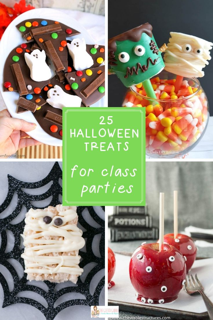 Halloween Classroom Treats - 25 Party Treat Ideas - The Gifted Gabber