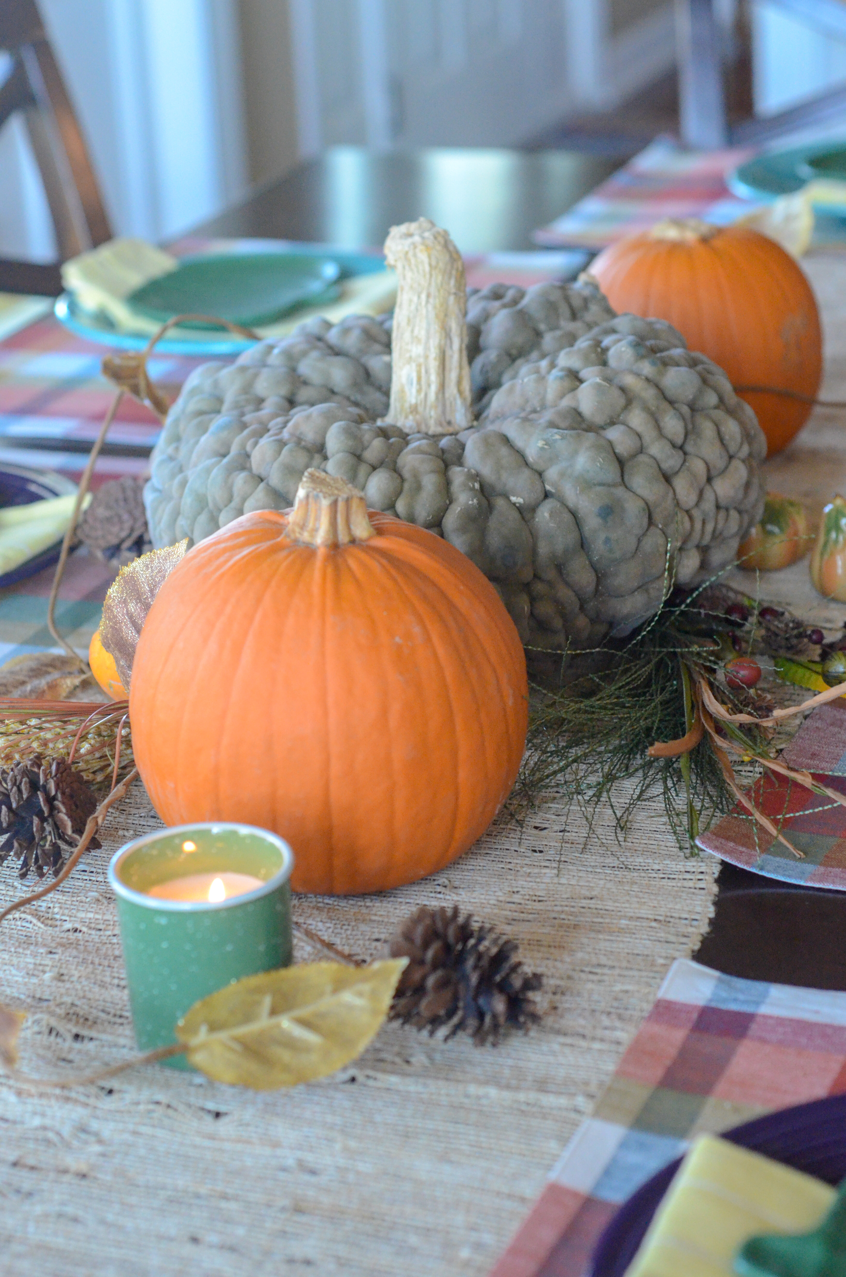 Orange And Teal Pumpkin Ideas For Fall Table The Gifted Gabber